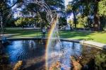 V botanické zahradě v Christchurch