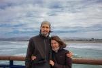 Viktor a Helenka na molu v Christchurch
