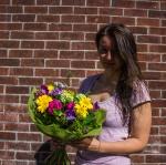 Helen got a flower