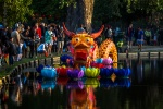 Chinese dragon in a water