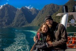 On the boat in Milford Sound