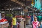 Trh s ovocem ve městě Nadi