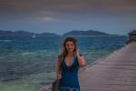 Helenka na molu na ostrově Mana