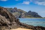 Pohled z pláže na ostrově Waialailai