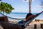 Relax v síti na pláži