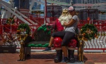 Santa v přístavu Darling Harbour