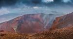 Červený jícen sopky Tongariro